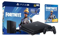 Приставка игровая SONY Play Station 4 1Tb PRO + Fortnite Black*