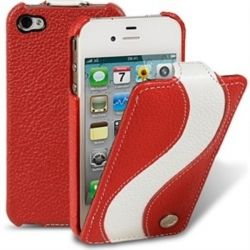 Чехол-книжка iPhone 4-4S Melkco Jacka Special Edition (Red White LC)