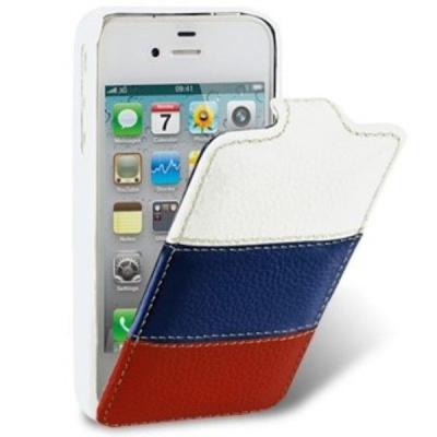 Чехол-книжка iPhone 4-4S Melkco Craft Edition Jacka type The Nations-Russia